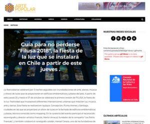 """Guía para no perderse """"Filusa 2018"""", la fiesta de la luz que se instalará en Chile a partir de este jueves ."""
