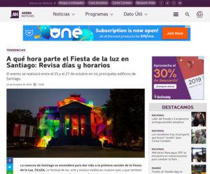 A qué hora parte el Fiesta de la luz en Santiago: Revisa días y horarios