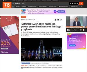[VIDEO] FILUSA 2018: revisa los puntos que se iluminarán en Santiago y regiones
