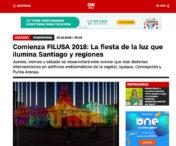 Comienza FILUSA 2018: La fiesta de la luz que ilumina Santiago y regiones