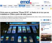 """Guía para no perderse """"Filusa 2018"""", la fiesta de la luz que se instalará en Chile a partir de este jueves"""
