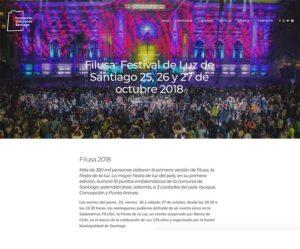 Filusa: Festival de Luz de Santiago 25, 26 y 27 de octubre 2018