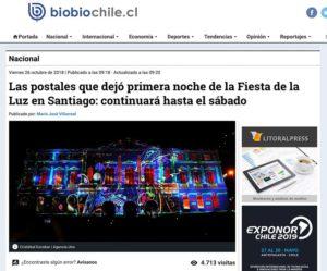 Las postales que dejó primera noche de la Fiesta de la Luz en Santiago: continuará hasta el sábado